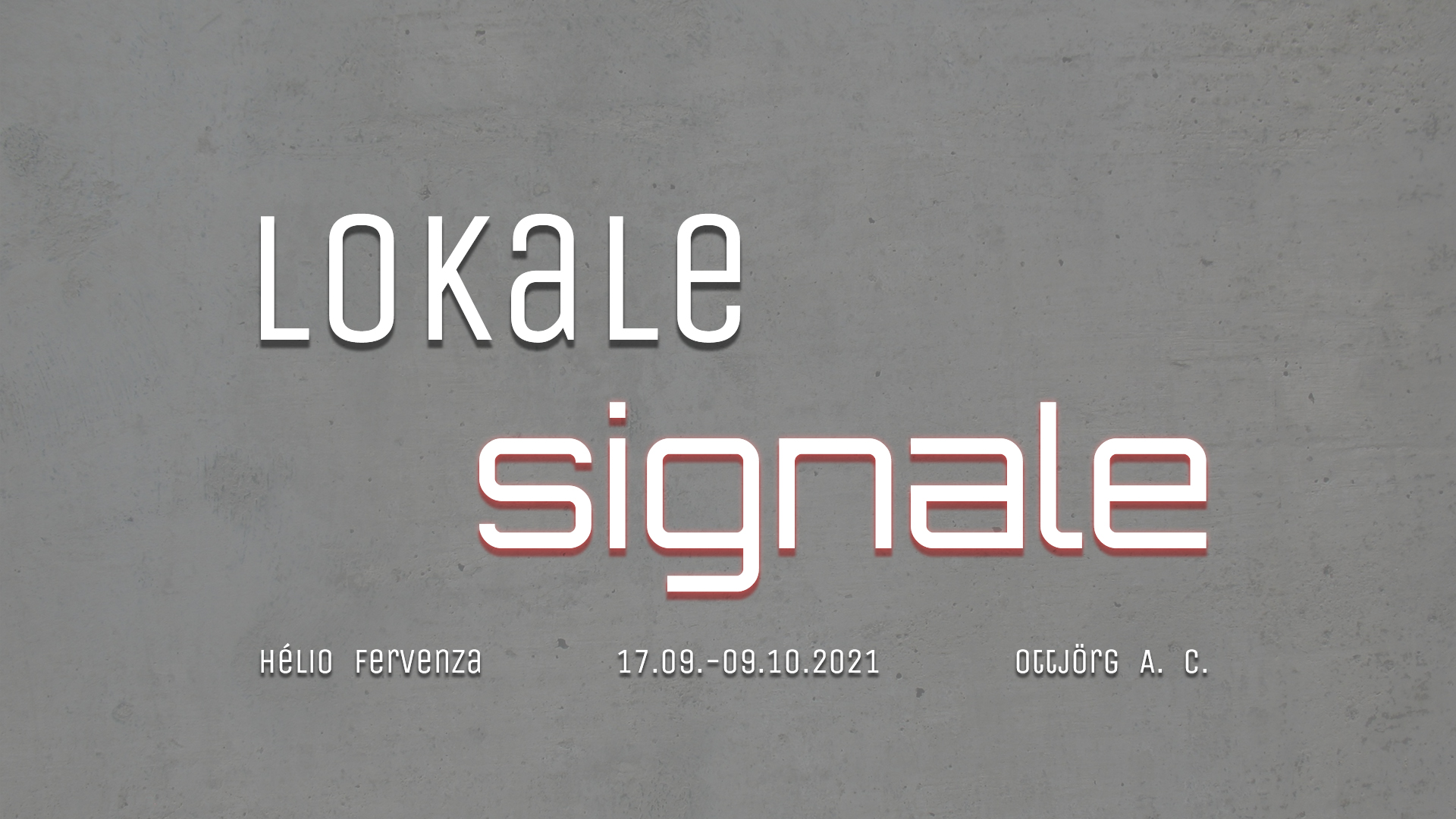 Lokale Signale poster